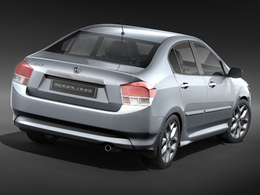 Honda City royalty-free 3d model - Preview no. 6