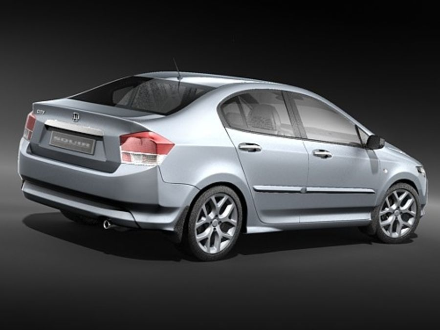 Honda City royalty-free 3d model - Preview no. 5