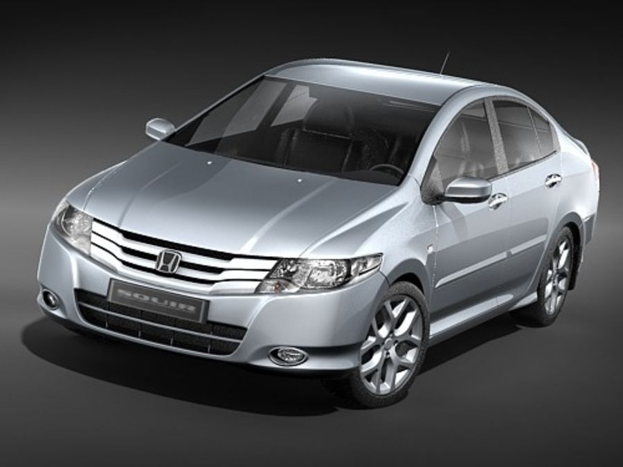 Honda City royalty-free 3d model - Preview no. 2