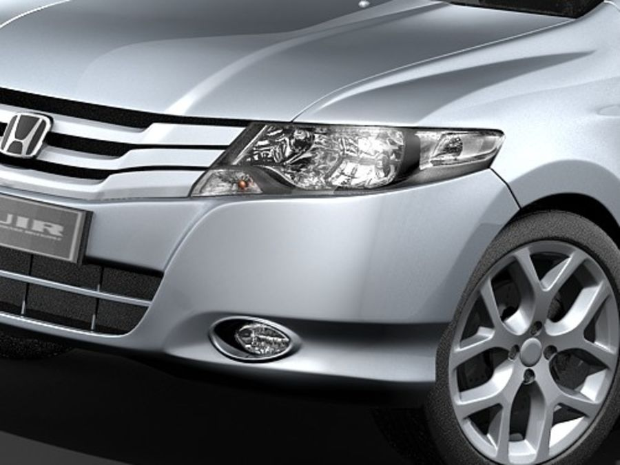Honda City royalty-free 3d model - Preview no. 3