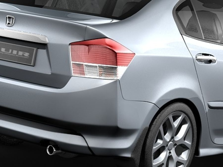 Honda City royalty-free 3d model - Preview no. 4