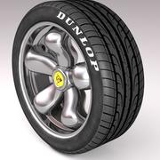 Car tire (tyre) and rim 3d model