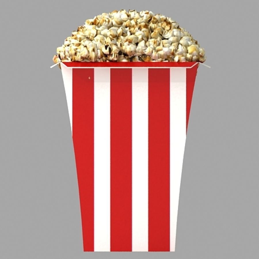 popcorn_3dsmax royalty-free 3d model - Preview no. 3