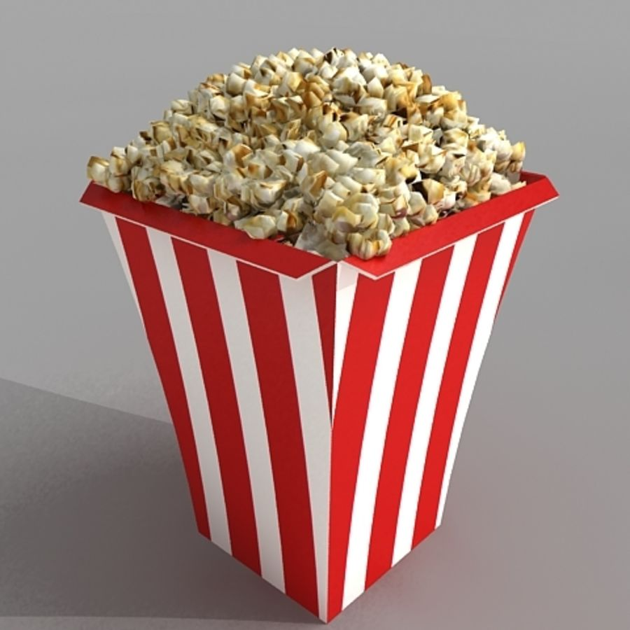 popcorn_3dsmax royalty-free 3d model - Preview no. 1