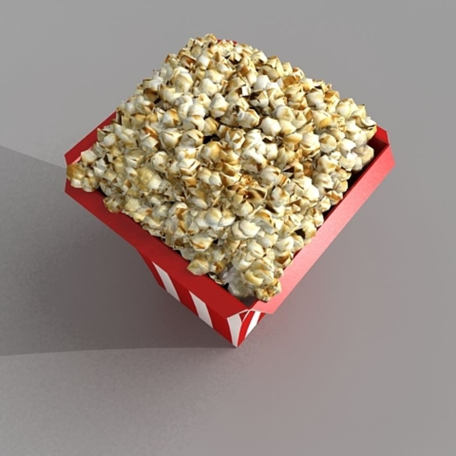popcorn_3dsmax royalty-free 3d model - Preview no. 2