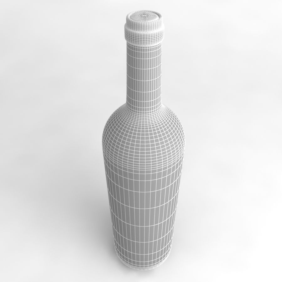 Wine Bottle Collection royalty-free 3d model - Preview no. 36