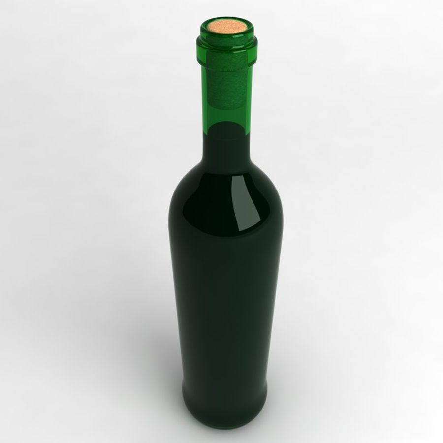 Wine Bottle Collection royalty-free 3d model - Preview no. 15