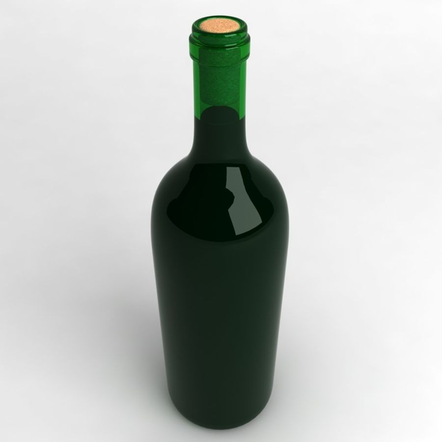Wine Bottle Collection royalty-free 3d model - Preview no. 9