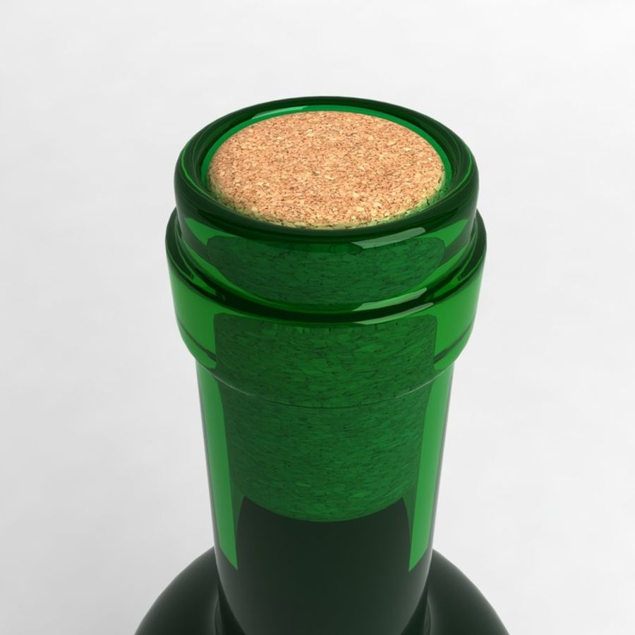 Wine Bottle Collection royalty-free 3d model - Preview no. 19