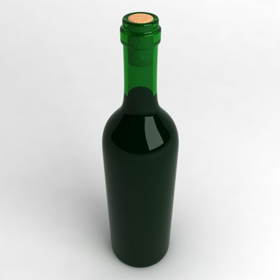 Wine Bottle Collection royalty-free 3d model - Preview no. 6