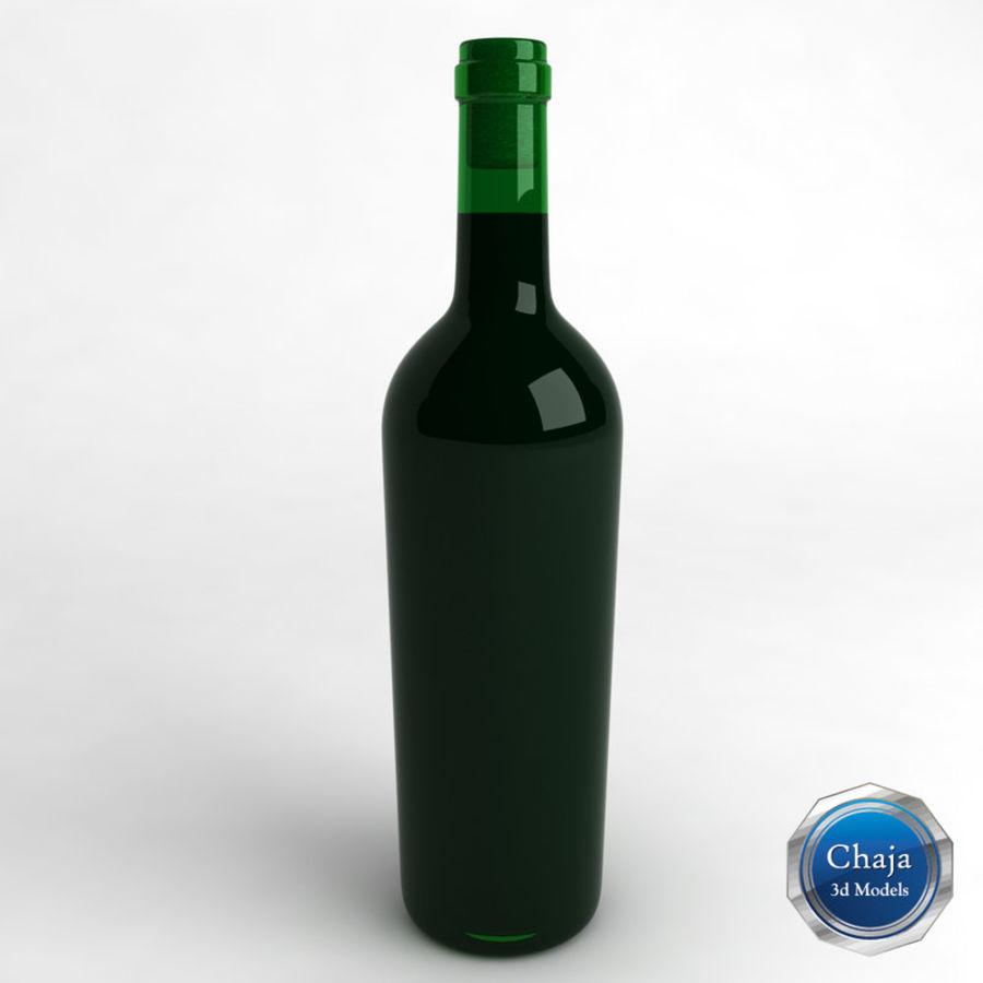 Wine Bottle Collection royalty-free 3d model - Preview no. 17