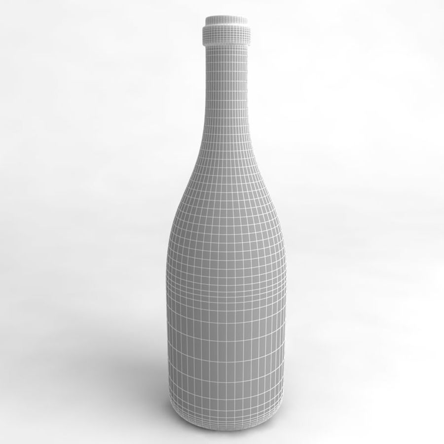 Wine Bottle Collection royalty-free 3d model - Preview no. 20