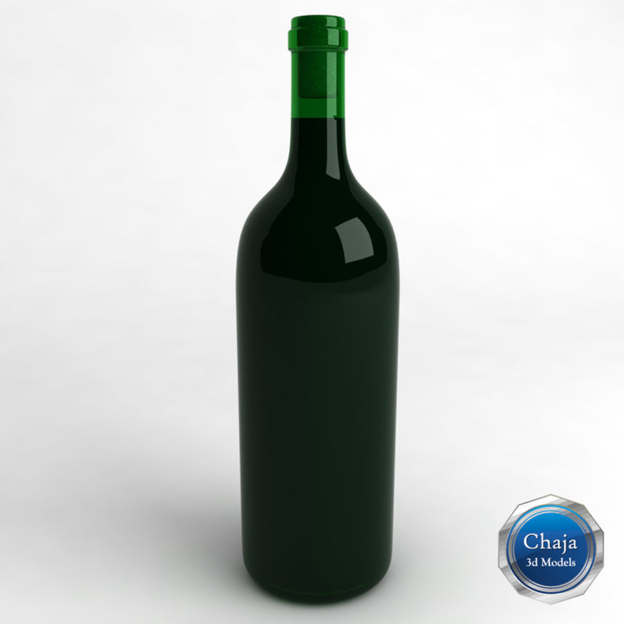 Wine Bottle Collection royalty-free 3d model - Preview no. 8