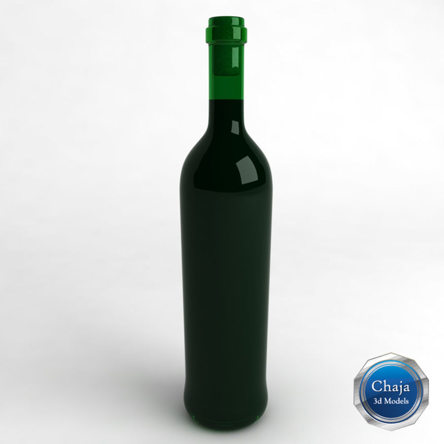 Wine Bottle Collection royalty-free 3d model - Preview no. 14