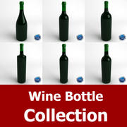 Wine Bottle Collection 3d model