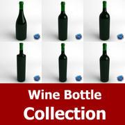 ワインボトルコレクション 3d model