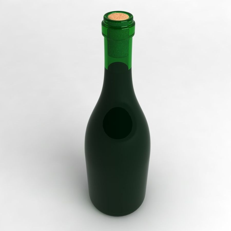 Wine Bottle Collection royalty-free 3d model - Preview no. 3