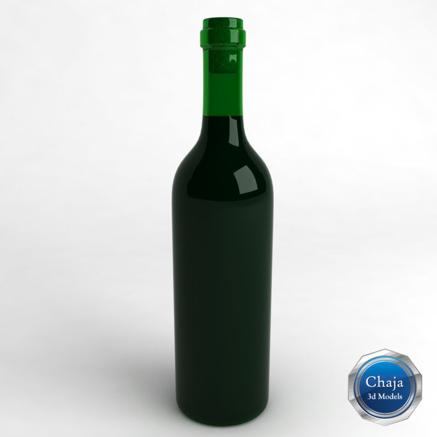 Wine Bottle Collection royalty-free 3d model - Preview no. 5