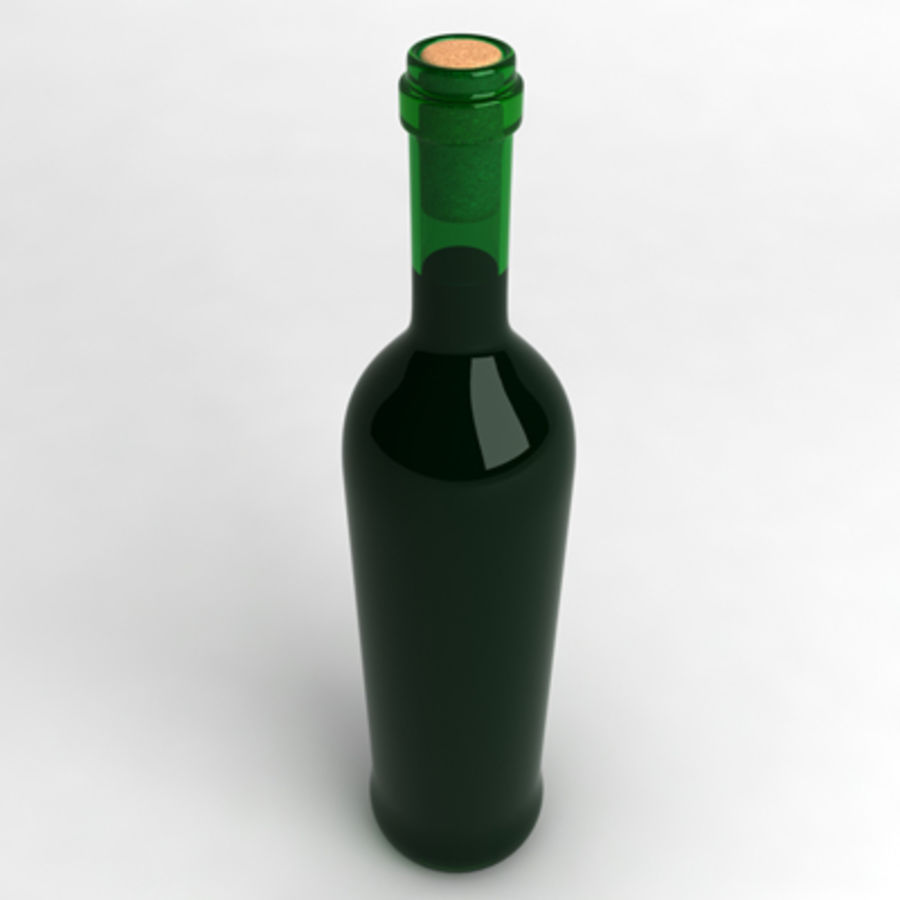 Wine Bottle_05 royalty-free 3d model - Preview no. 2