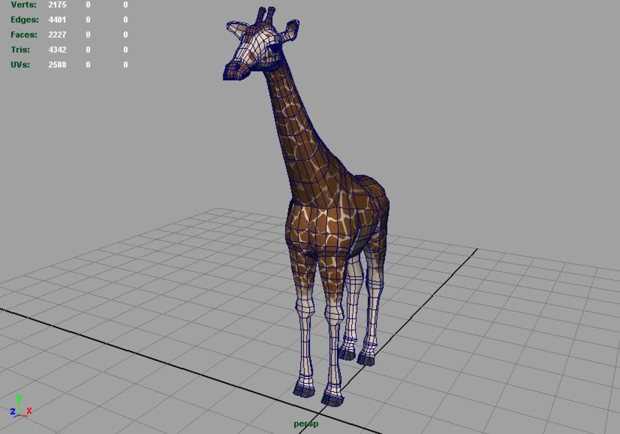 Giraffe royalty-free 3d model - Preview no. 3