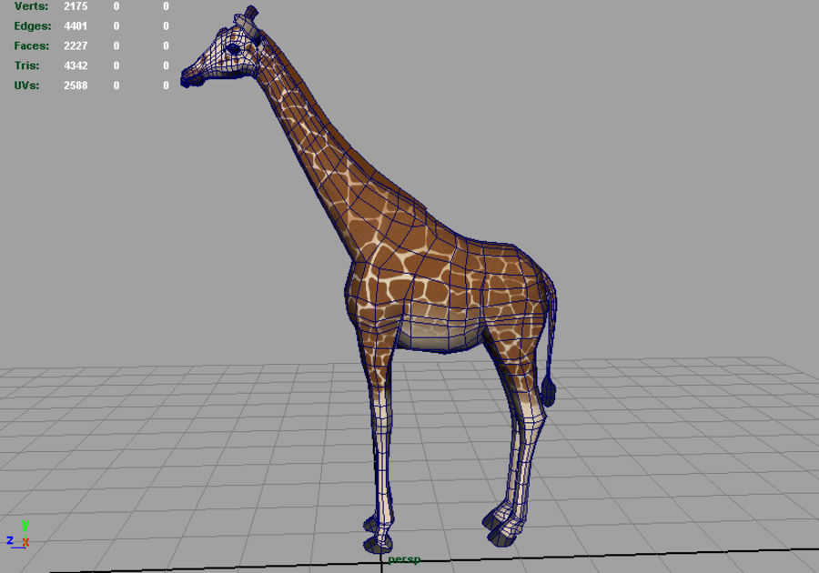 Giraffe royalty-free 3d model - Preview no. 4