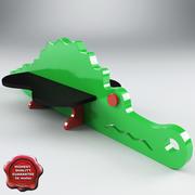 Playground Bench Crocodile 3d model