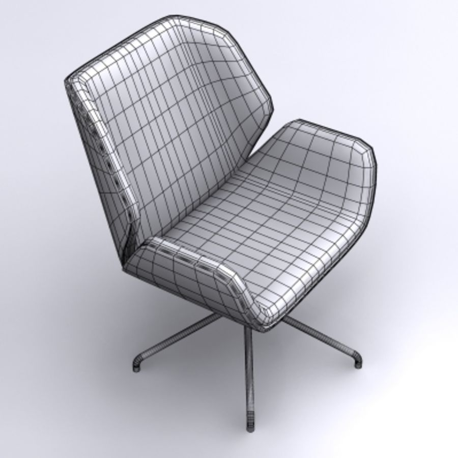 3D chair 007 royalty-free 3d model - Preview no. 4