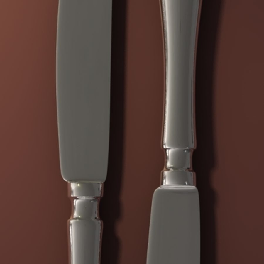 Knife hi royalty-free 3d model - Preview no. 3