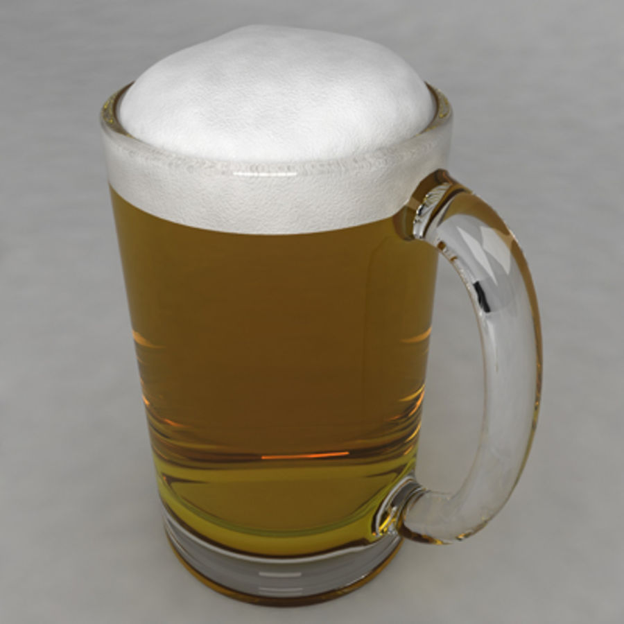 Beer Glass_11 royalty-free 3d model - Preview no. 3