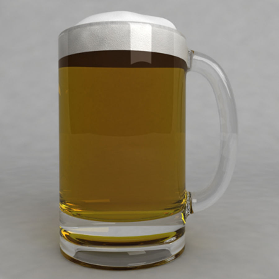 Beer Glass_11 royalty-free 3d model - Preview no. 2