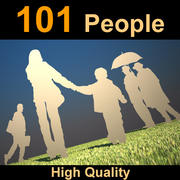 People 101 Human Silhouets 3d model