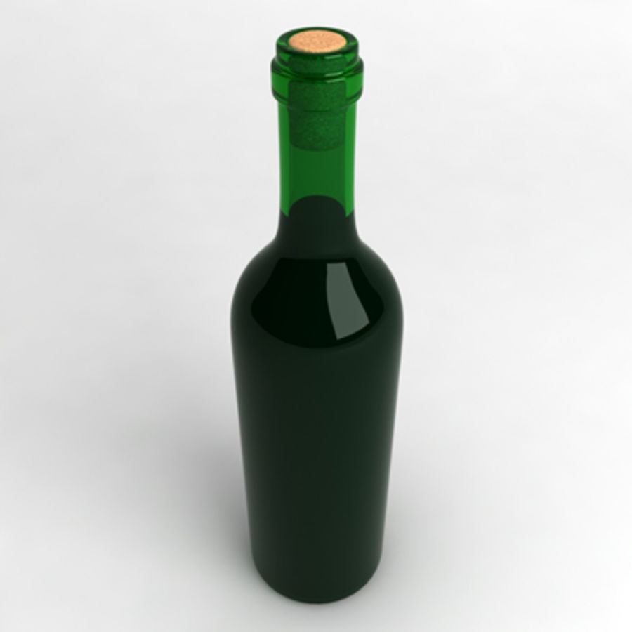 Wine Bottle_02 royalty-free 3d model - Preview no. 2
