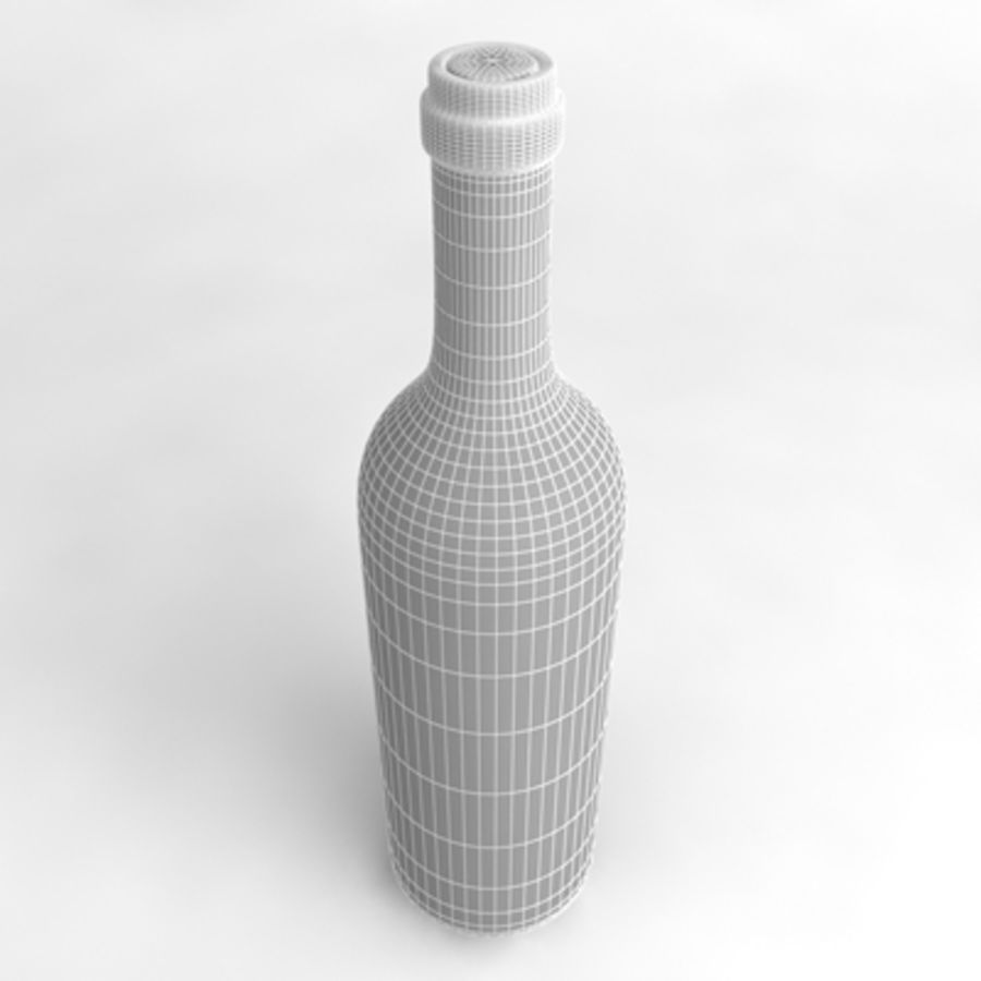 Wine Bottle_02 royalty-free 3d model - Preview no. 5