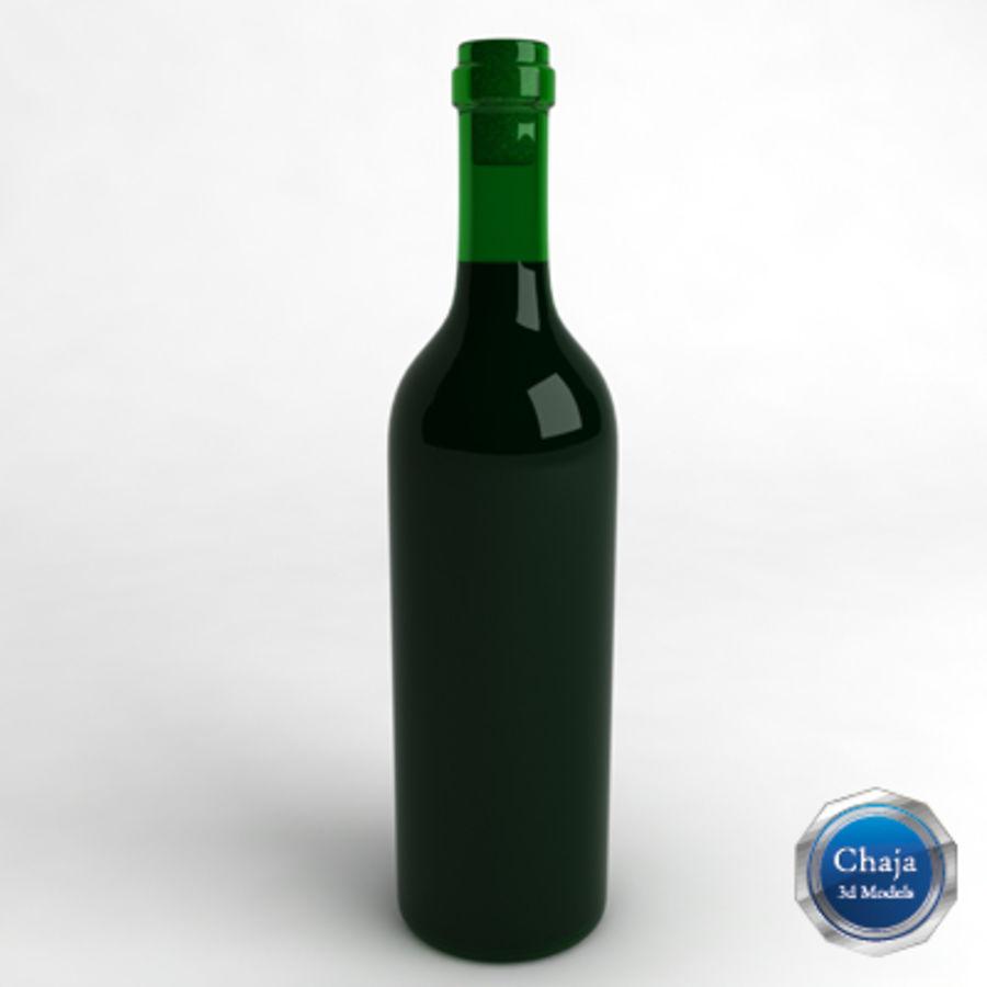 Vinflaska_02 royalty-free 3d model - Preview no. 1