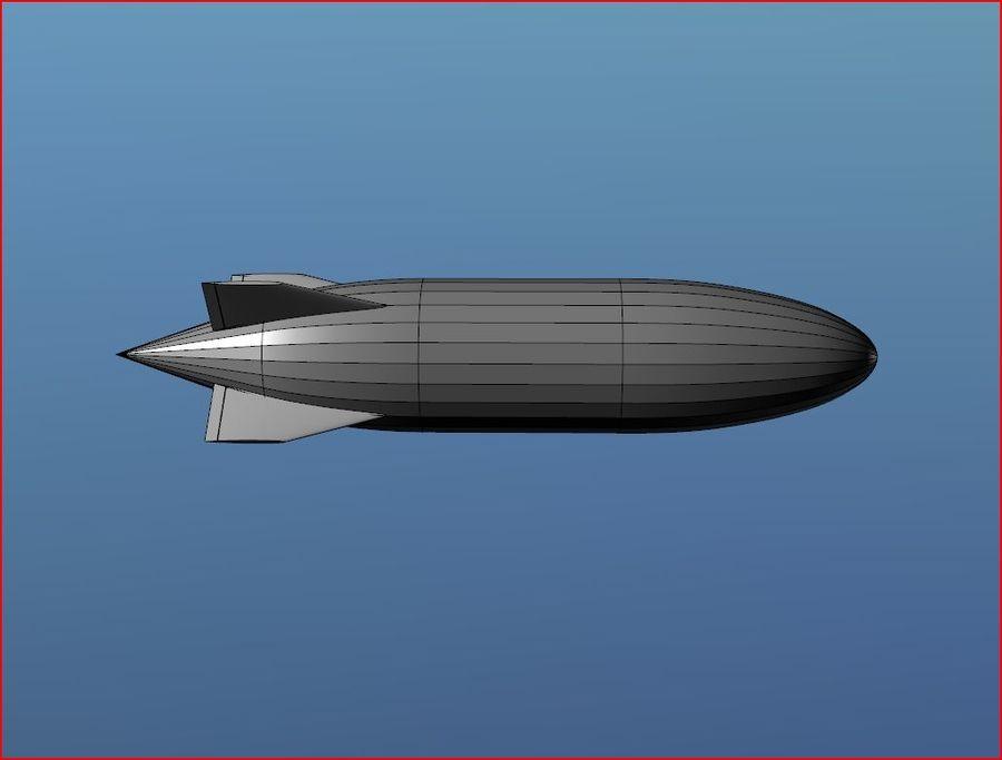 Airship Blimp royalty-free 3d model - Preview no. 2