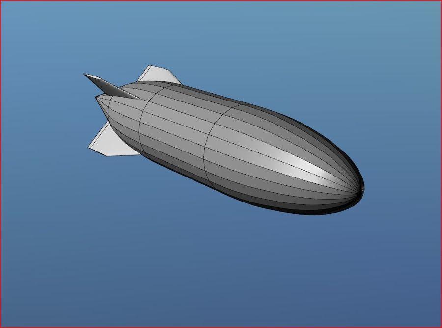 Airship Blimp royalty-free 3d model - Preview no. 1