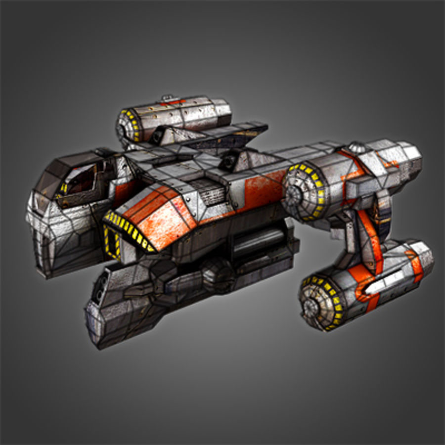 Sci Fi Spaceship - Spacecraft / Aircraft royalty-free 3d model - Preview no. 2