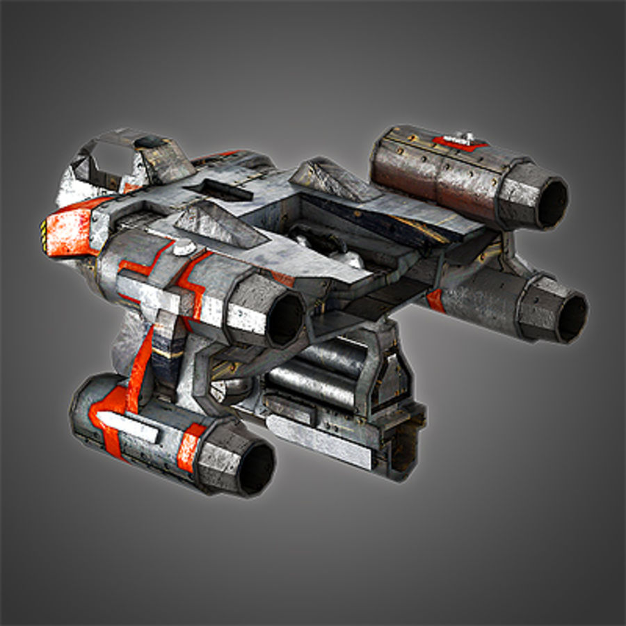 Sci Fi Spaceship - Spacecraft / Aircraft royalty-free 3d model - Preview no. 4