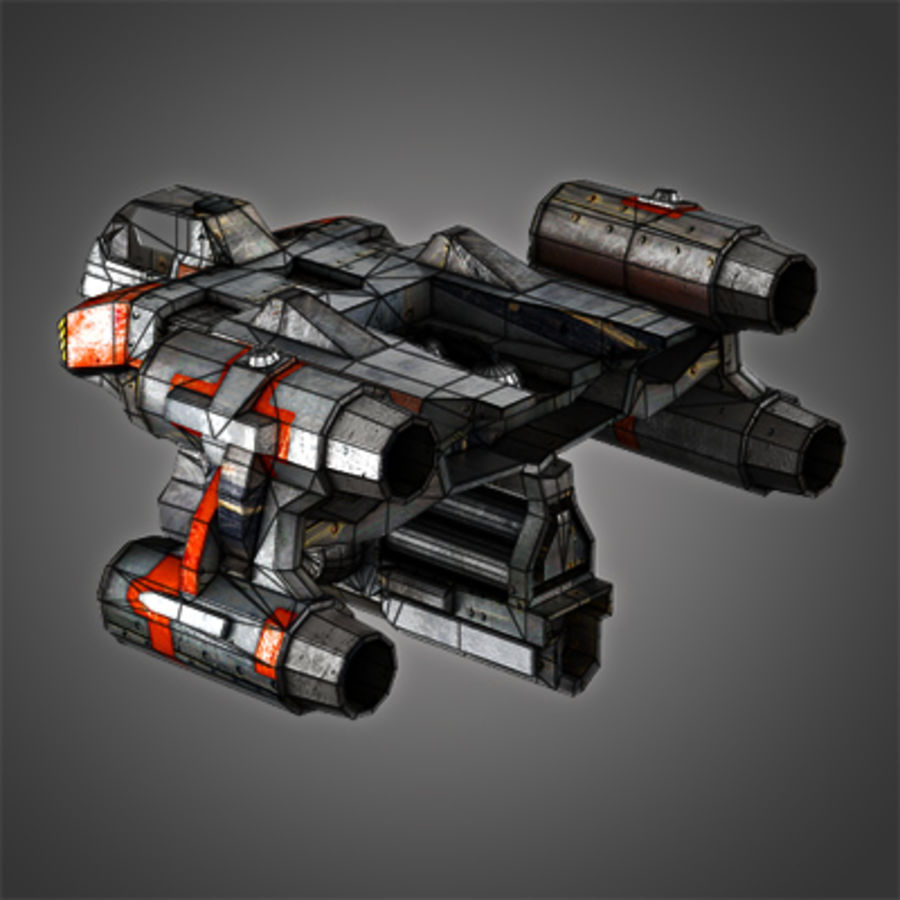 Sci Fi Spaceship - Spacecraft / Aircraft royalty-free 3d model - Preview no. 5