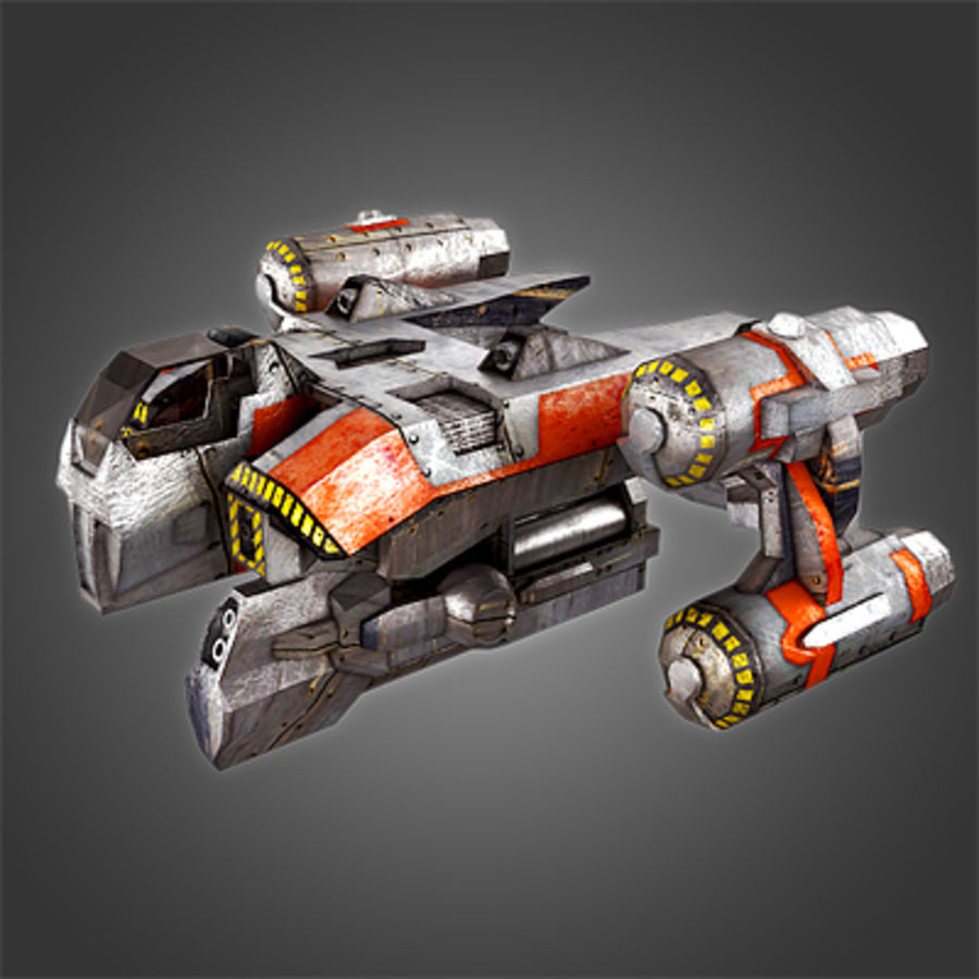 Sci Fi Spaceship - Spacecraft / Aircraft royalty-free 3d model - Preview no. 1