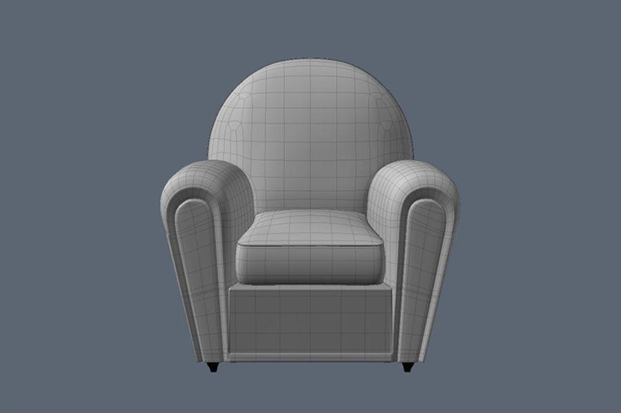 Poltrona frau vanity fair armchair 3d model 10 lxo for Poltrona 3d