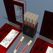 Azjatyckie Menu I Pałeczki 3d model