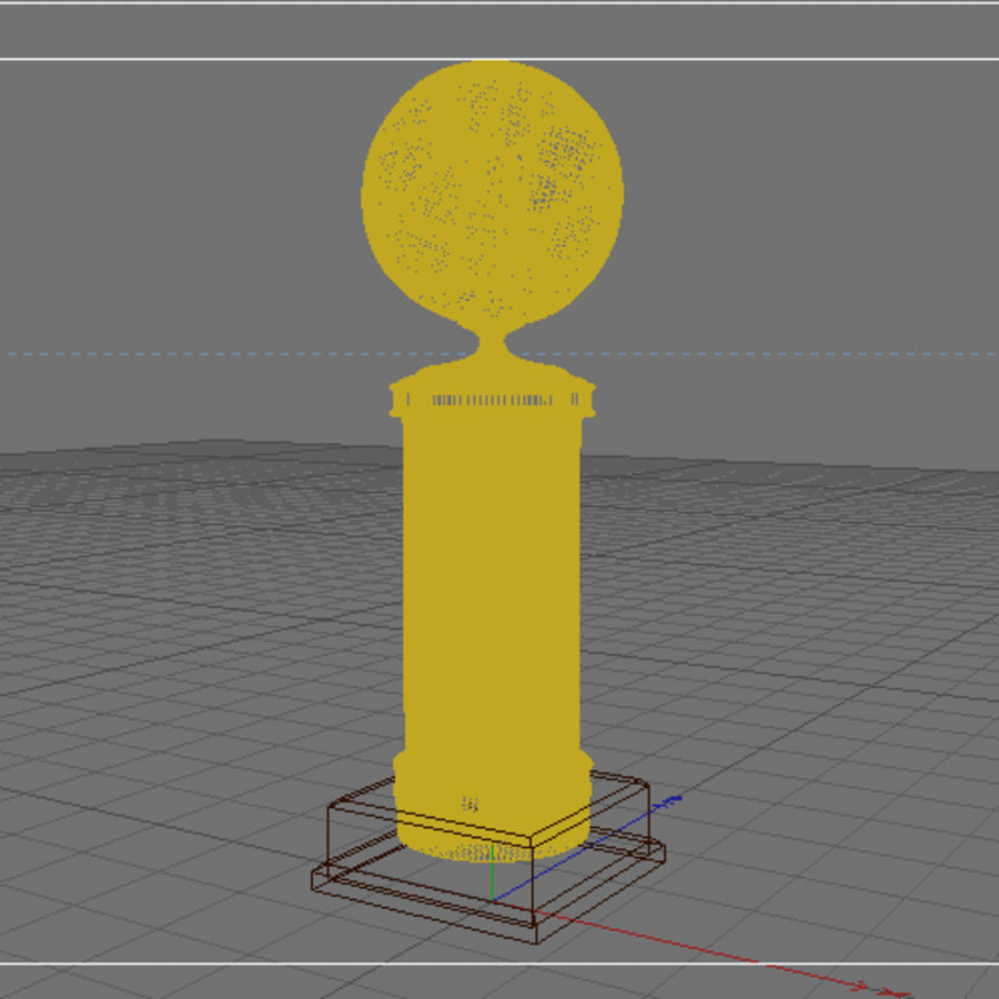 Basketball Trophy royalty-free 3d model - Preview no. 2