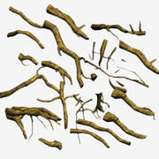 Tree Roots Driftwood UDK 3d model