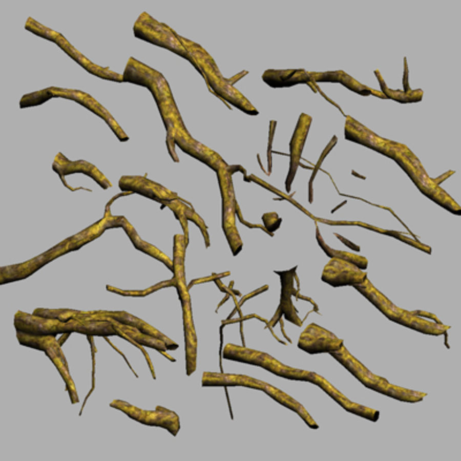 Tree Roots Drijfhout UDK royalty-free 3d model - Preview no. 2