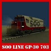 Lokomotive Soo Line 3d model