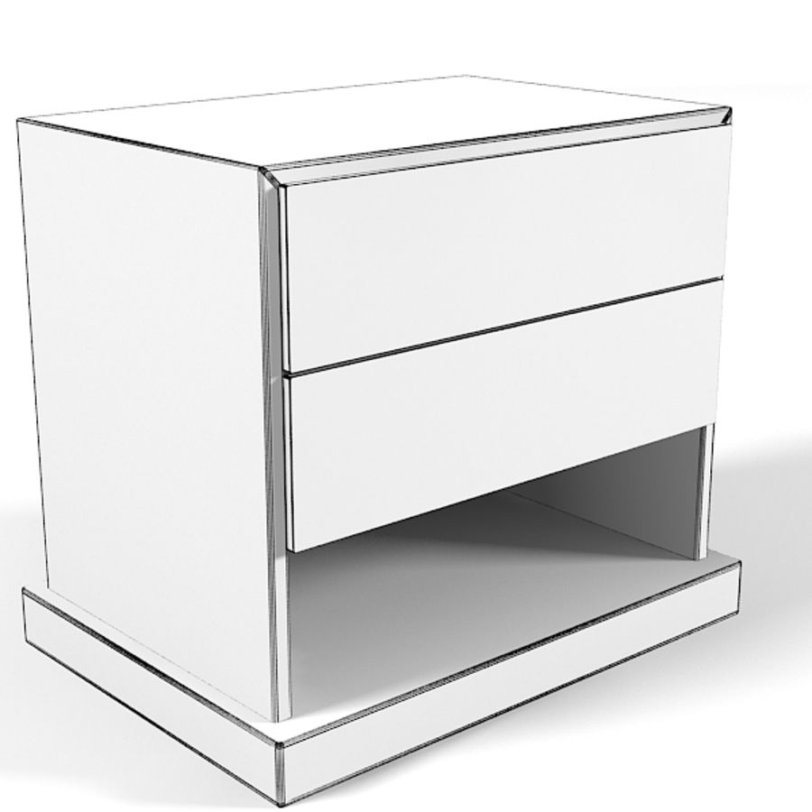 Promemoria Omnibus Nightstand Modern Contemporary royalty-free 3d model - Preview no. 4