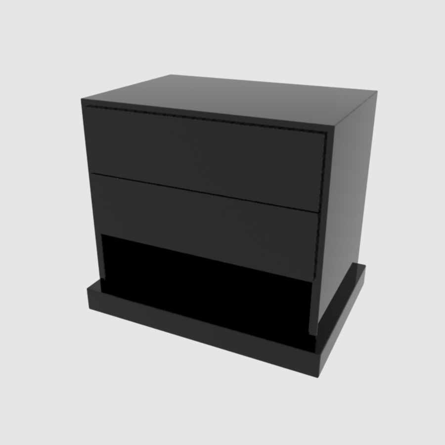 Promemoria Omnibus Nightstand Modern Contemporary royalty-free 3d model - Preview no. 5