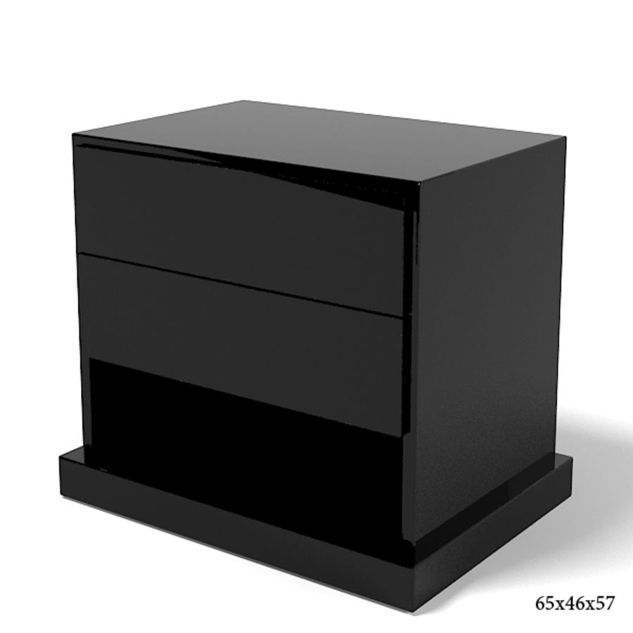 Promemoria Omnibus Nightstand Modern Contemporary royalty-free 3d model - Preview no. 1