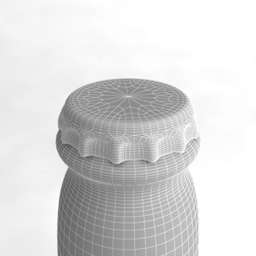 Beer Bottle 5 royalty-free 3d model - Preview no. 6